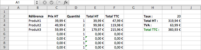 Comment calculer la tva sur excel - Comment calculer la temperature ...